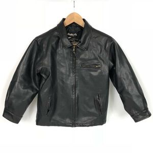 Hawke & Co. Brown Leather Bomber Jacket 7
